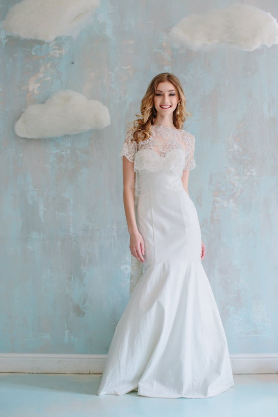 mermaid style etsy wedding dresses