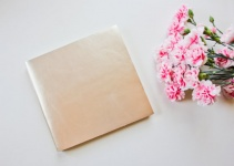 metallic leather guest book