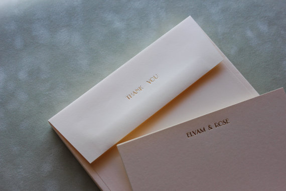 metallic thank you cards