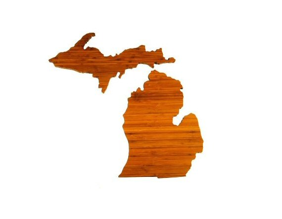 michigan cutting board via Top 10 Non Registry Wedding Gifts