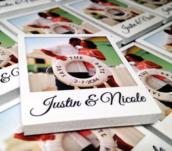 6 Creative Save the Date Ideas - mini polaroid magnet by mini polaroid magnets