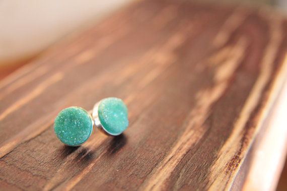 mint bridesmaid druzy jewelry | druzy bridesmaid jewelry