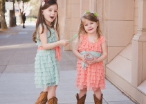 mint ruffle flower girl dress