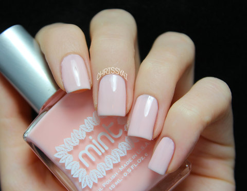 mint to be nail polish in pink | mint nail polishes favors | http://emmalinebride.com/favors/mint-nail-polishes-favors/
