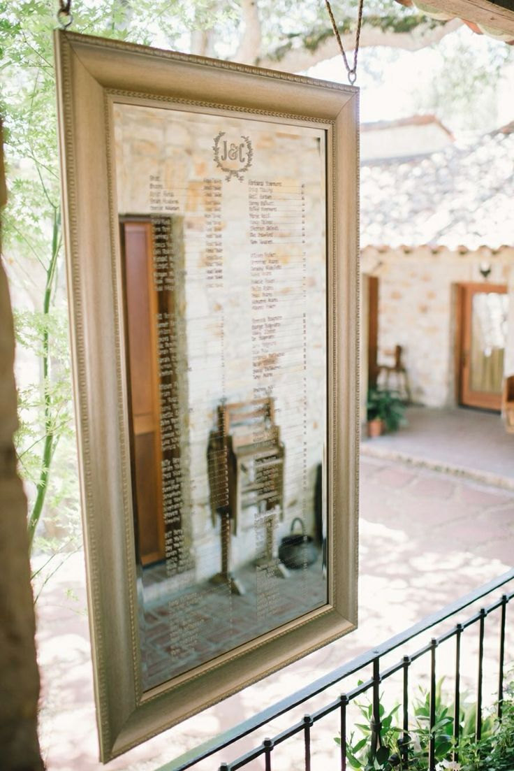 mirror sign for your wedding | http://emmalinebride.com/decor/wedding-mirror-signs/