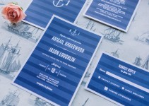 modern nautical wedding invite