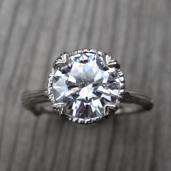 moissanite branch engagement ring | Engagement Rings Etsy | via http://emmalinebride.com/jewelry/40-best-handmade-rings-ever/ ‎