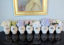 monogrammed vases for bridesmaids