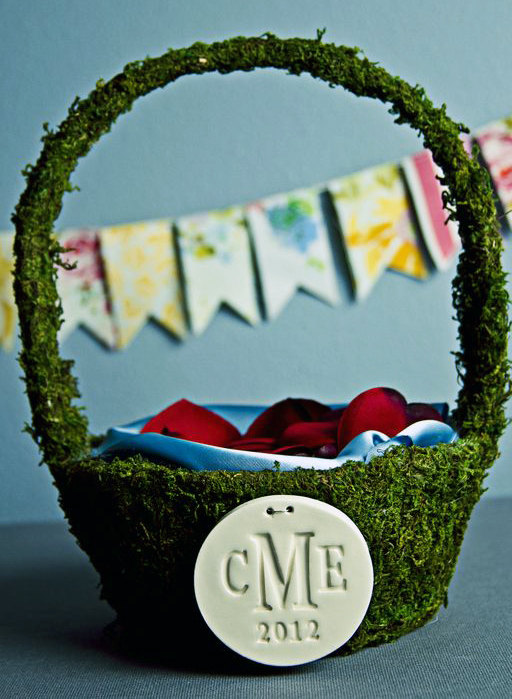 moss flower girl basket 3