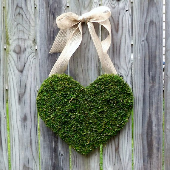 moss covered heart