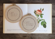 mr mrs chair signs wedding hoop art