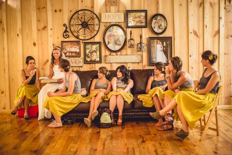 Bridesmaid Skirts in Mustard Yellow