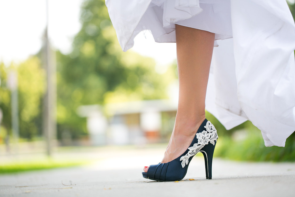 navy blue wedding heels