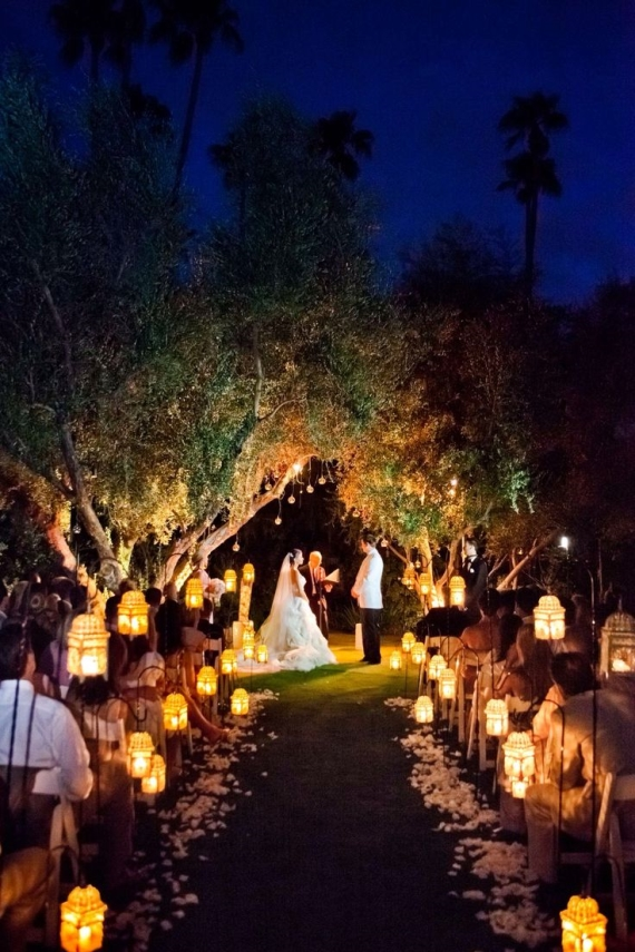 Moroccan Style Lanterns For Aisle Decor Night Wedding Ideas