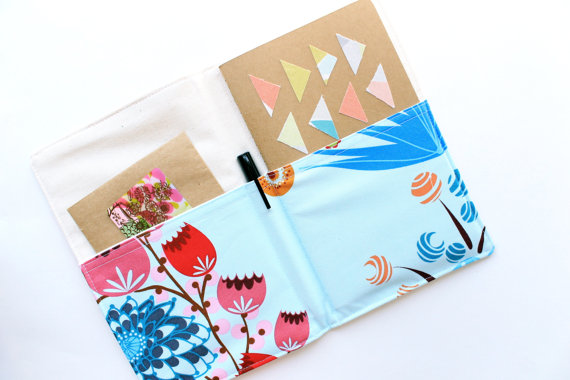 notepad organizer floral via newly engaged gift idea at EmmalineBride.com
