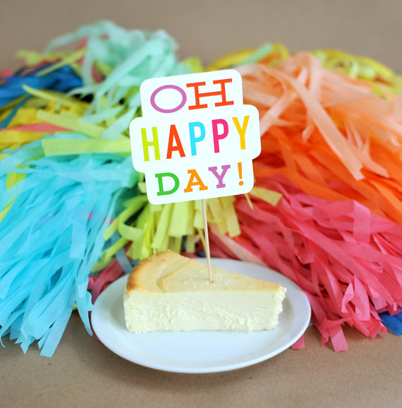 oh happy day | fun cake toppers in words