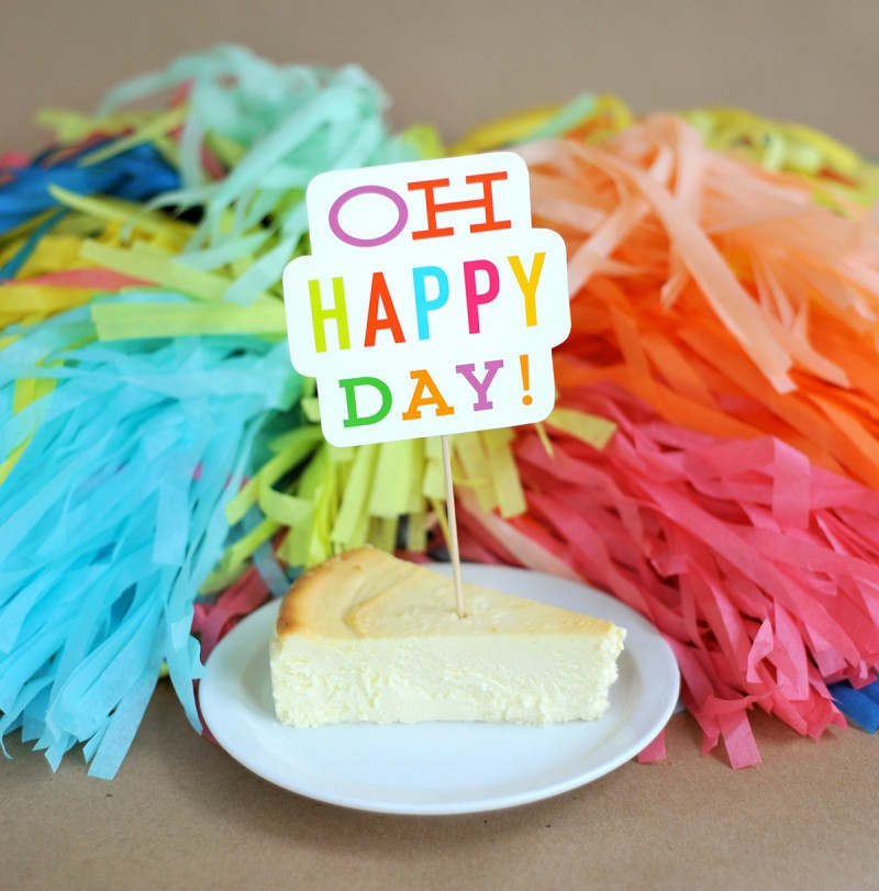 oh happy day cake topper | Fun Wedding Photo Props | http://emmalinebride.com/decor/fun-wedding-photo-props/