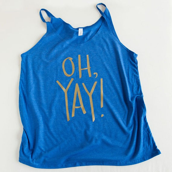 Oh Yay Tank Top by Emily Steffen | Etsy Wedding Tank Tops http://emmalinebride.com/bride/etsy-wedding-tank-tops/