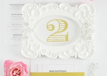 ornate gold wedding table numbers