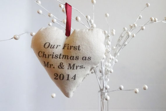 our first christmas as mr and mrs ornament by lovebughandmade
