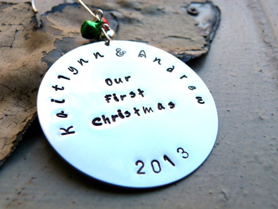our first christmas mr and mrs ornament by spiritualgems