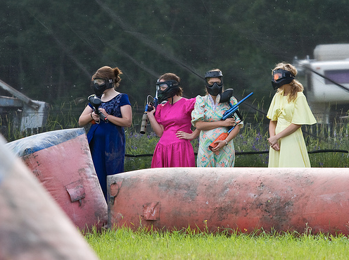 paintball bridesmaids
