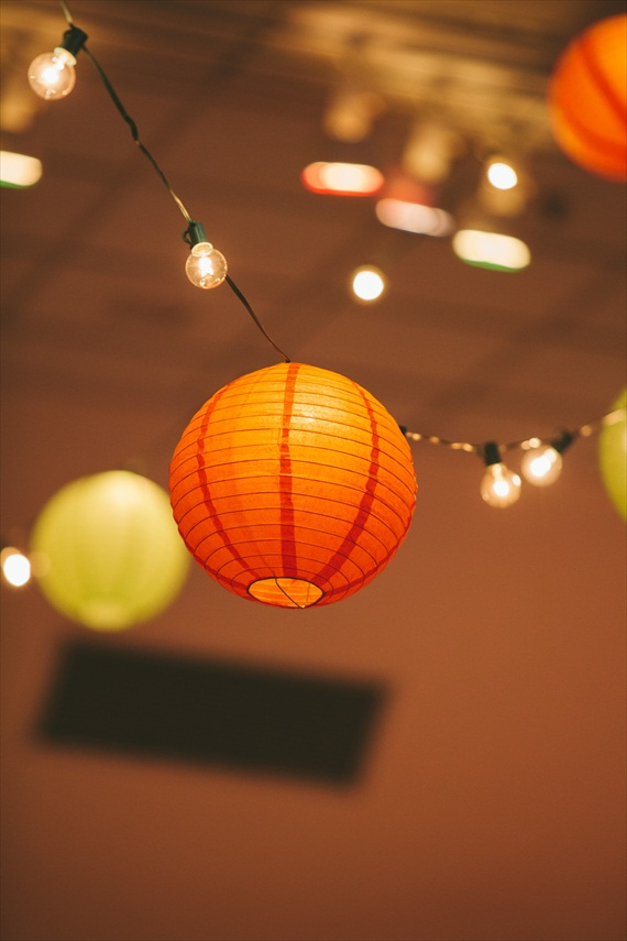 DIY Fall Wedding - Photo by Noelle Ann Photography - #paper #lantern #fall #wedding #decor #reception