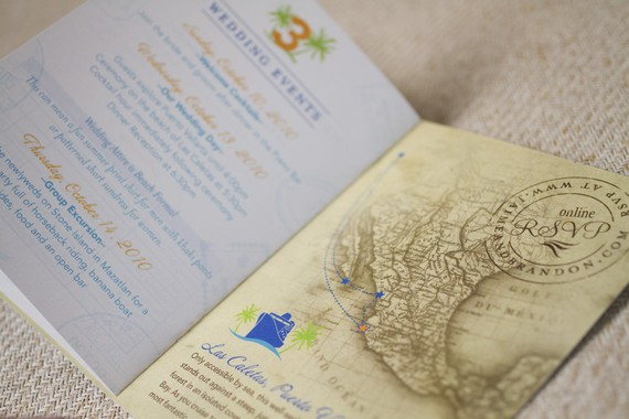 passport cruise - Destination Wedding Invitations