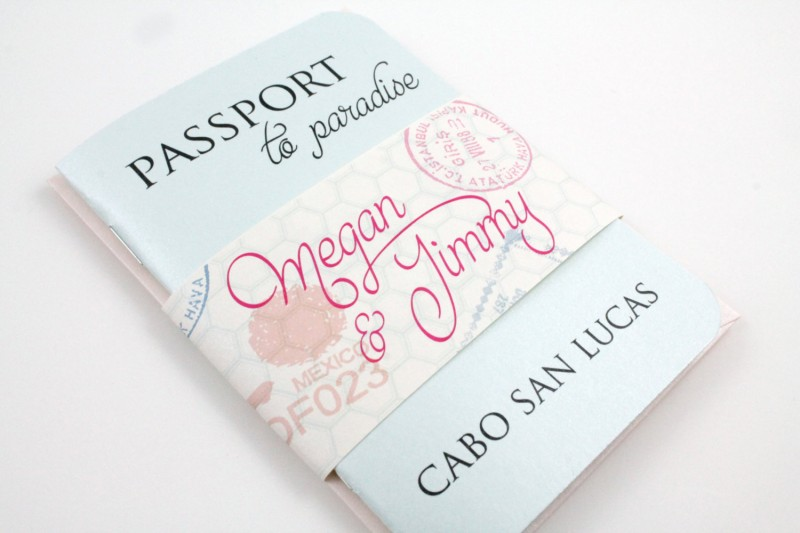 passport style wedding invitation | invitations destination weddings - http://emmalinebride.com/invites/invitations-destination-weddings/