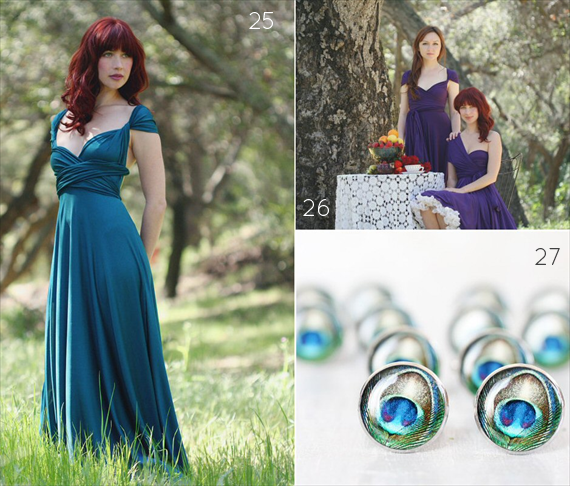 Peacock Bridesmaid Dress Ideas
