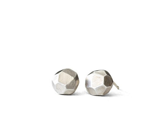 rock stud earrings - nature inspired jewelry