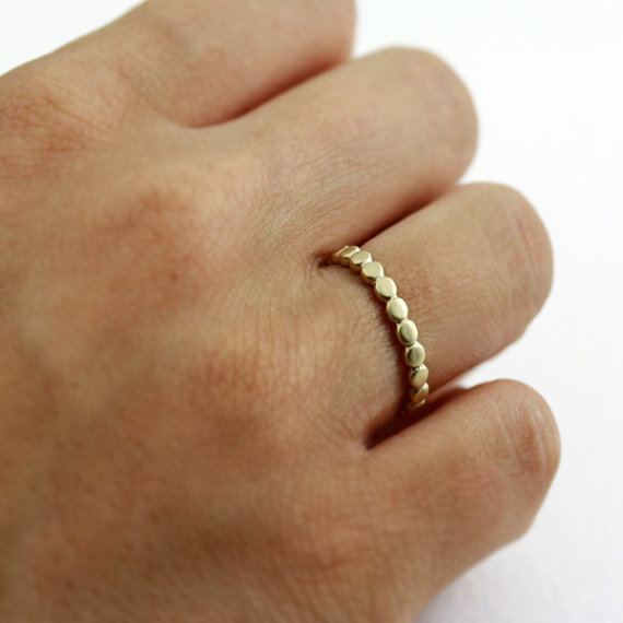 gold pebble ring