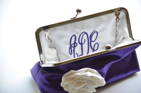 personalize clutch monogram interior