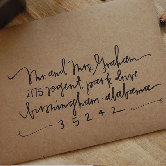 3 Easy Ways to Personalize Wedding Invitations (calligraphy: made in the fold) via EmmalineBride.com