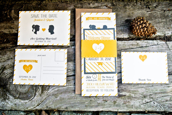 3 Easy Ways to Personalize Wedding Invitations (invites: wide eyes design) via EmmalineBride.com