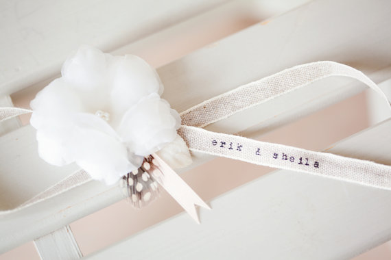 Personalized Bridal Garter by SIBO Designs | http://emmalinebride.com/bride/garter-names-weddings/ | garter names weddings