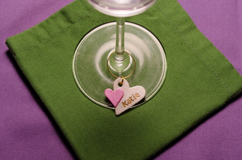 personalized bridesmaid wine glass charm | Handmade Wedding Charms via http://emmalinebride.com/decor/handmade-wedding-charms/