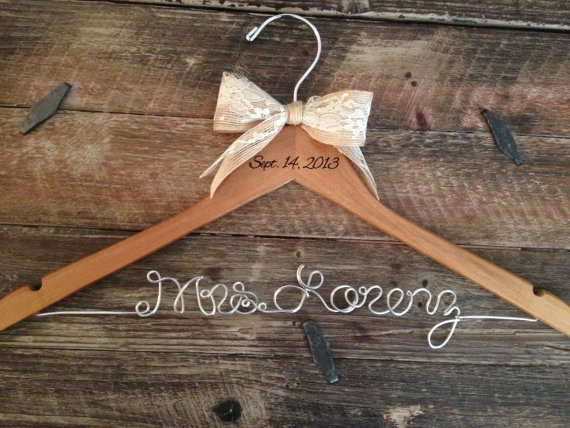 personalized wedding dress hanger - Top 8 Wedding Day Gifts for the Bride