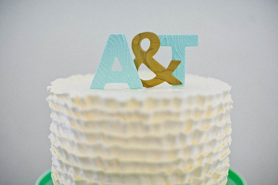 Display your wedding initials on top of your cake for added personalization.