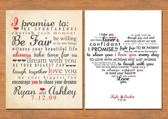 Wedding Vow Keepsake What Would Yours Say Emmaline Bride 174