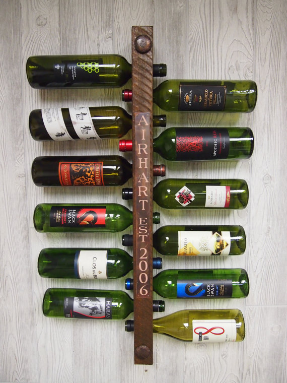 personalized wine rack via Top 10 Non Registry Wedding Gifts