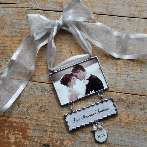 photo charm christmas ornament married by photoexpressions