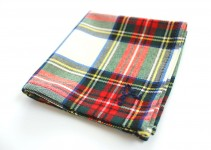 plaid groomsmen pocket square fall
