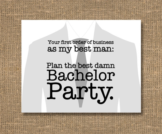 plan my bachelor party card | Funny Groomsmen Cards He'll Actually Want to Send | via http://emmalinebride.com/groomsmen/groomsmen-cards-funny/
