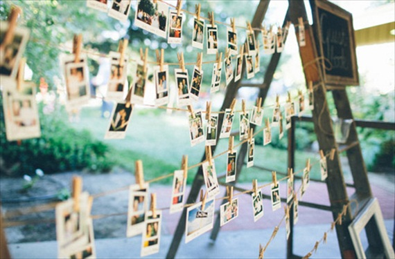 Polaroids at Weddings - polaroid guest book