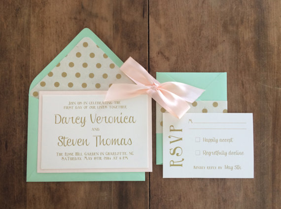 polka dot wedding invitation liner - easy invitation detail