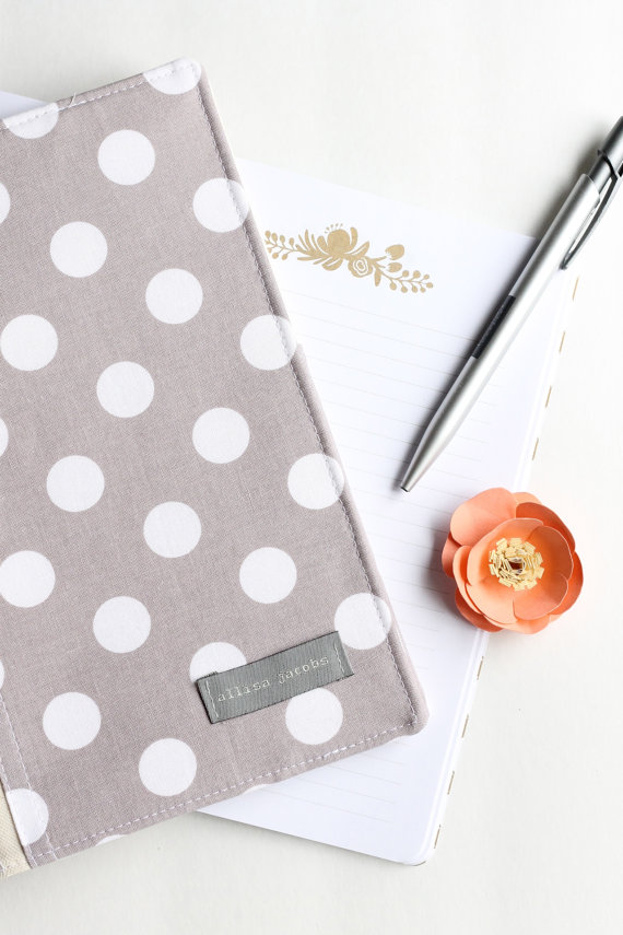 portfolio organizer polka dots via newly engaged gift idea at EmmalineBride.com
