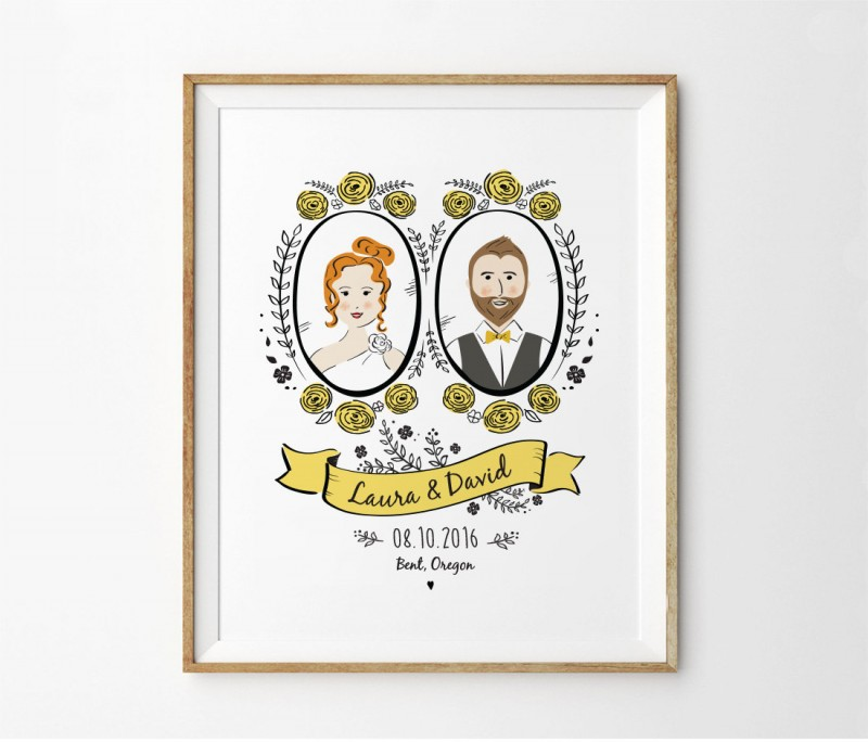 Portrait Wedding Invites, Save the Dates, and Wall Art