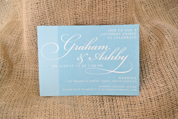 powder blue shower invitations