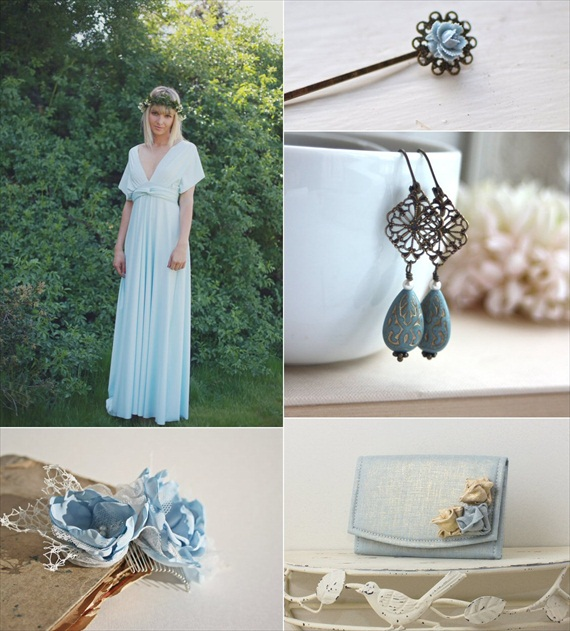 powder blue wedding accessories